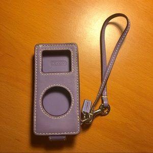 Coach iPod Nano Purple Leather Case
